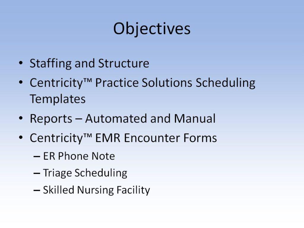 Webinar For GE Centricity Scheduling Tips Tricks Data