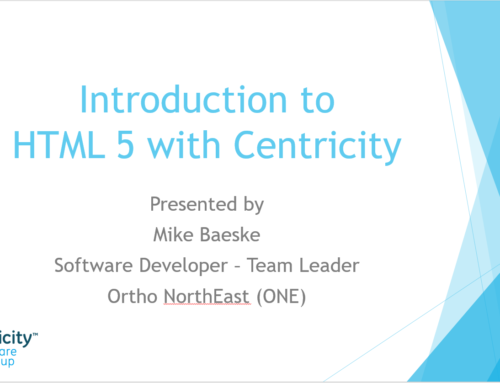 Introduction to HTML 5 with Centricity